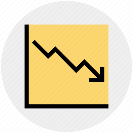 Arrow, business, chart, dashboard, down, graph, growth icon - Download on Iconfinder