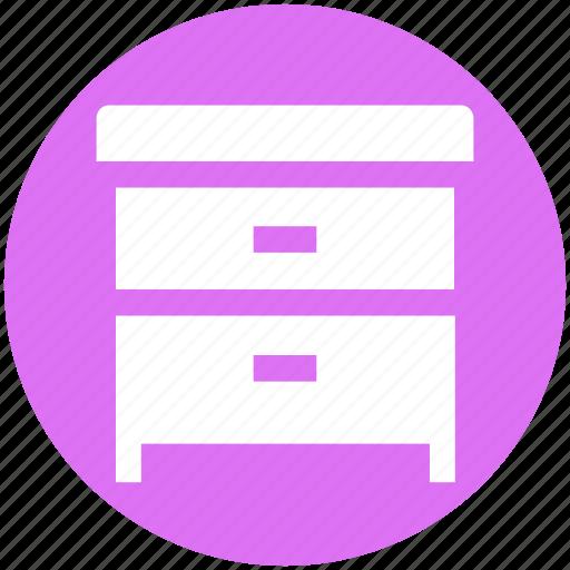 Archiver, bedside, cabinet, drawers, furniture, wardrobe, wooden icon - Download on Iconfinder