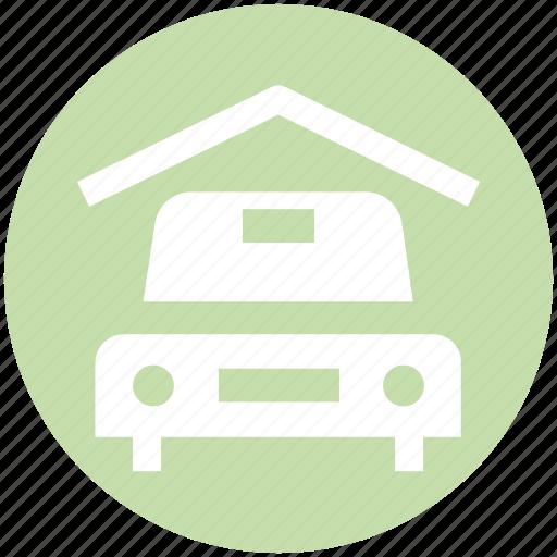 Car, car garage, car porch, garage, porch, transport, vehicle icon - Download on Iconfinder