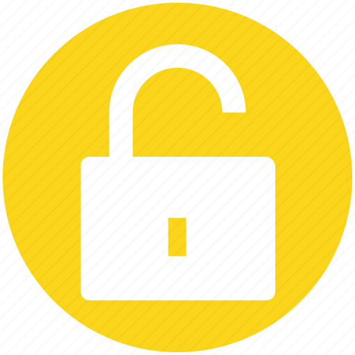 logout, padlock, secure, security, unlock, unlocked icon