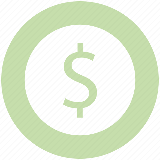 coins stack, currency, dollar coin, investment, money, savings icon