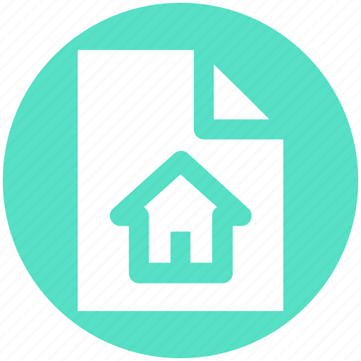 Business, documents, file, format, home, house, paper icon - Download on Iconfinder