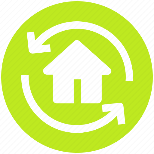 Home, house, refresh, rotate, sync, sync home icon - Download on Iconfinder