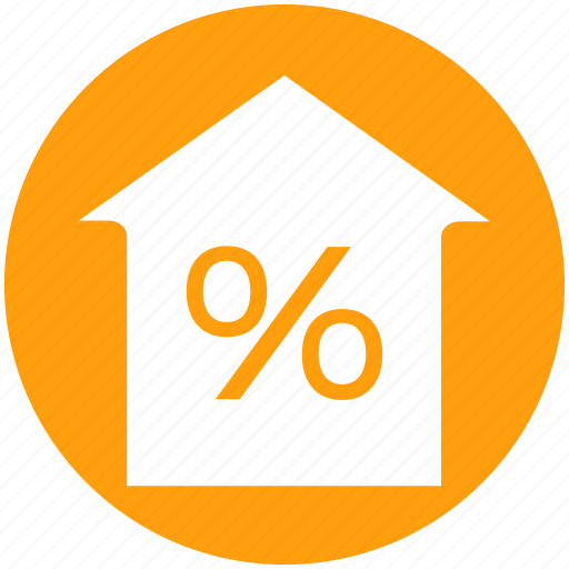 Home, house, mortgage percentage, percent, percentage, property discount, property tax icon - Download on Iconfinder