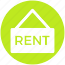 home, house, information, property, rent, sign, signboard icon