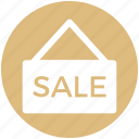 sale, sale sign, shopping, sign, tag icon