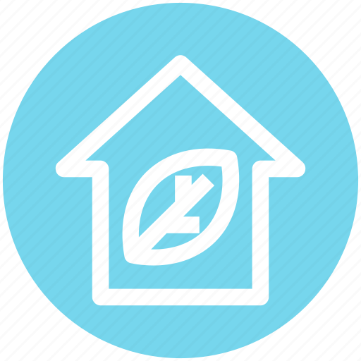 Eco home, ecology, house, leaf, nature, plant, smart home icon - Download on Iconfinder