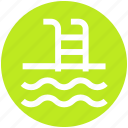 ladder, pool, sea, swim, swimming, water, waves icon