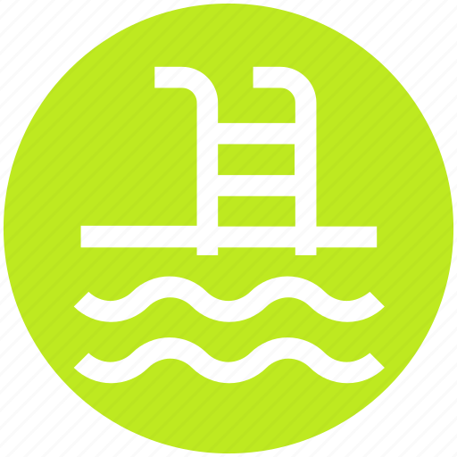 Ladder, pool, sea, swim, swimming, water, waves icon - Download on Iconfinder