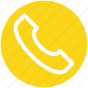 call, communication, landline, landline phone, phone, telephone, telephone receiver icon