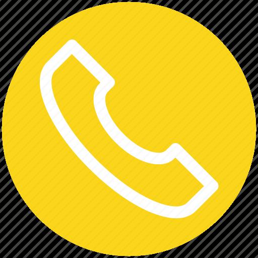 call, communication, landline, landline phone, phone, telephone, telephone receiver icon