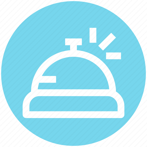 bell, front, hotel, office, reception, room service icon