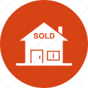 estate, home, property, real estate, sold icon