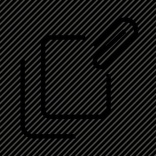 attach, attachment, clip, document, file icon