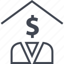 buying, estate, home, house, money, real, realtor icon