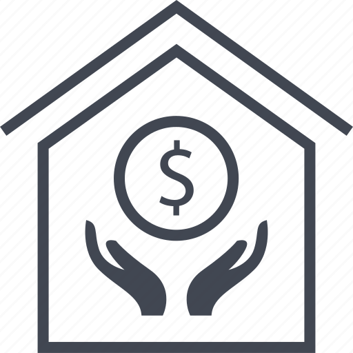 buy, dollar, home, house, sign icon