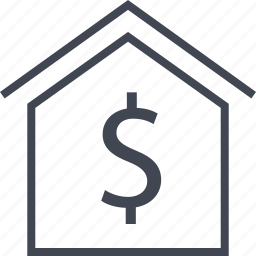 dollar, home, house, pay, sign icon