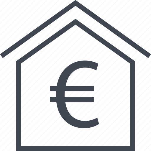 euro, home, house, sign icon