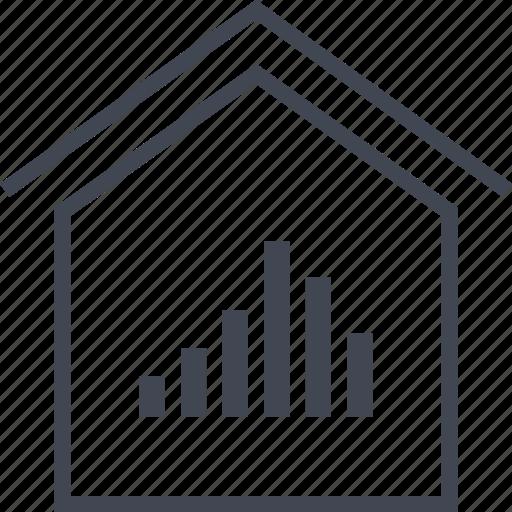 analytics, data, home, house, seo icon
