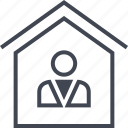 buyer, estate, home, house, real, realtor, seller icon