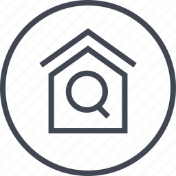 home, house, internet, online, search icon