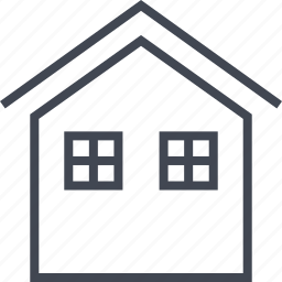 home, house, two, windows icon