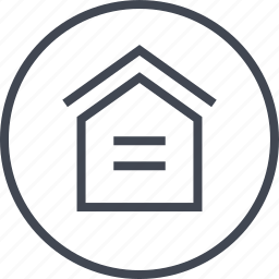 home, house, lines, roof, two icon