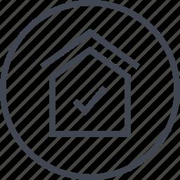 check, house, mark, ok icon