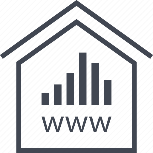 bars, data, home, house, www icon