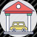 automobile, car parking, car porch, garage, house garage