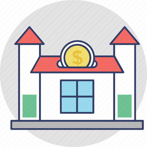 affordable home, home savings, house installments, mortgage, pledge icon