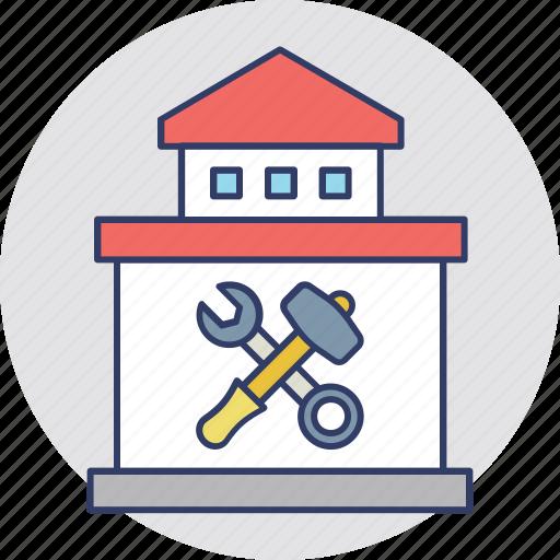 garage, home construction, home repair, repair, workshop icon