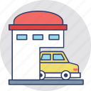 automobile, car parking, car porch, garage, house garage icon
