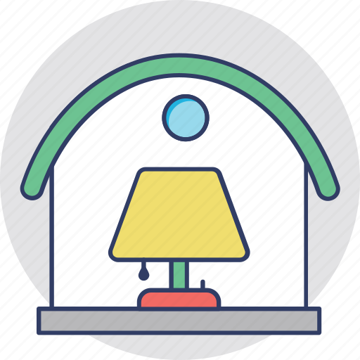 electric light, electricity, indoor lighting, lamp, room lamp icon