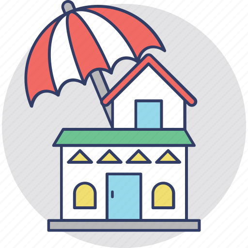 home insurance, intellectual property, property insurance, property management, property protection icon