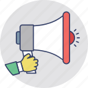 advertisement, marketing, megaphone, promotion, property announcement icon