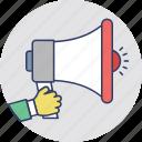 advertisement, marketing, megaphone, promotion, property announcement