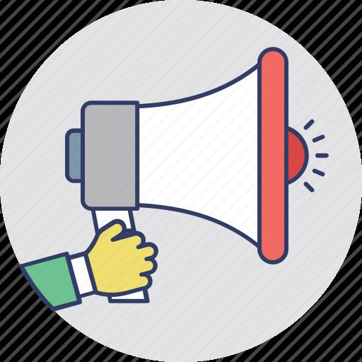 advertisement, marketing, megaphone, promotion, property announcement icon