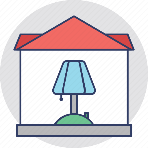 electric light, electricity, lamp, room lamp, table lamp icon