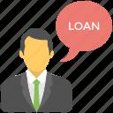 financial advisor, legal advisor, loan advisor, loan consultant, property agent icon