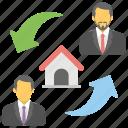 house accord, housing partnership, mortgage, property agreement, property allotment, property deal icon