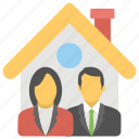 house accord, housing partnership, mortgage, property agreement, property allotment, property deal icon