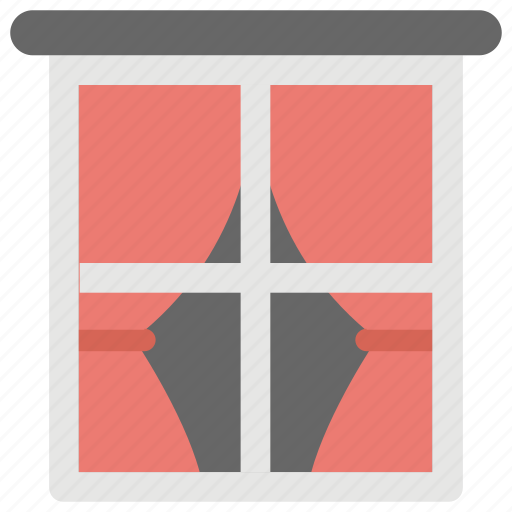 apartment window, home interior, home window, window, window frame icon