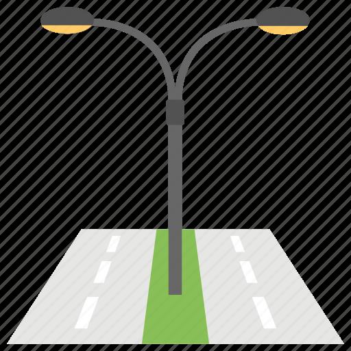 Night Road Lights Street Lamps Light Traffic Icon