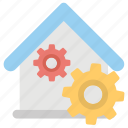 home interior, home maintenance, home repair, house construction, house renovation icon