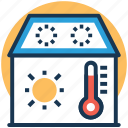 central cooling, central heating system, house temperature, temperature, thermometer icon