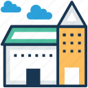 agricultural building, architecture, building, hyloft, warehouse icon