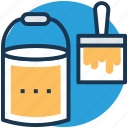 paint bucket, paint roller, painting, roller, roller brush icon
