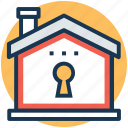 home lock, home protection, home security, property insurance, real estate icon