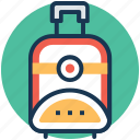 bag, baggage, luggage, traveling bag, wheel bag icon